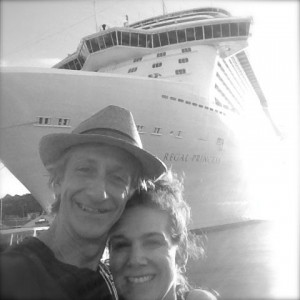 Stuart Cohen with wife Kimberly Cohen near Regal Princess.